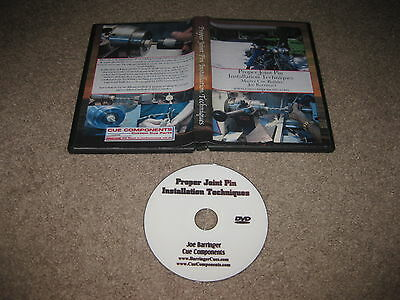 Cue Components Building Pool Joe Barringer Proper Joint Pin Installation DVD