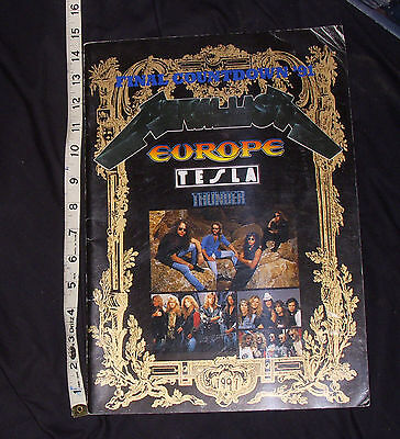 Japan Original Concert Tour Book FINAL COUNTDOWN '91 METALLICA Tesla Europe