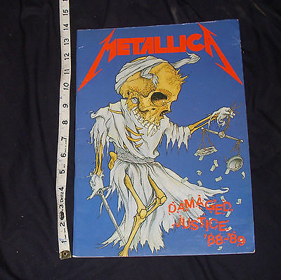 Metallica And Justice For All Damaged Justice Concert Tour Book Program 88-89