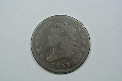 1811 Classic Head Large One Cent, VG Condition - C1180