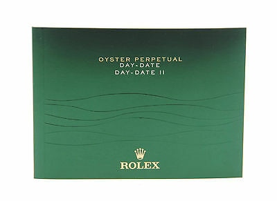 Rolex Day-Date II Booklet Manual 2013 English