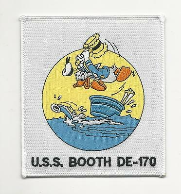 Us Navy Patch - De 170 Uss Booth - Shows Donald Duck