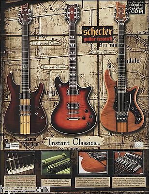 Schecter Hollywood Tempest Stiletto Classic Guitar ad 8 x 11 advertisement