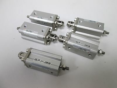 Lot of 5 SMC CQD120-30DM Pneumatic Compact Cylinders, 12mm Bore, 30mm Stroke