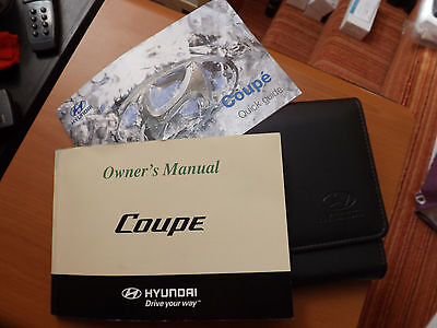 Hyundai Coupe Owners Manual With Wallet. 2005 Model. Free Recorded Post
