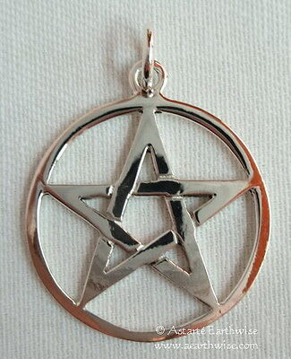 STERLING SILVER PENTACLE PENDANT  925 STERLING SILVER Wicca Pagan Witch Goth