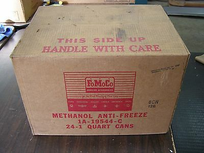 NOS Ford Anti Freeze Can 1950's Oil Can Box Fairlane Thunderbird 1957 1958 1959