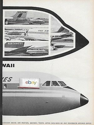 Aloha Airlines 1967 Behind All The Big Jets In Hawaii Aloha Bac 1-11's 2 Pg Ad