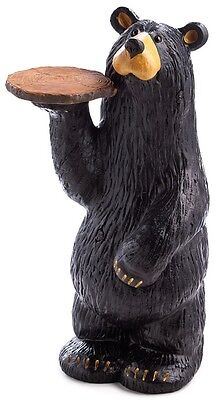 Jeff Fleming Bearfoots Grand Waiter Bear with Tray Magnetic Figurine