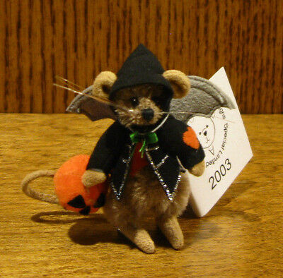 """DEB CANHAM Artist Designs BATTERS, Halloween Coll. 2.75"""" LE jointed Mohair"""
