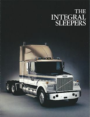 Truck Brochure - Volvo White - The Integral Sleepers - c1986 (T1791)