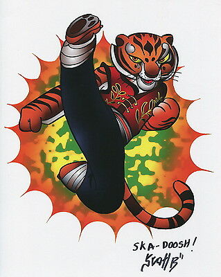 Fung Fu Panda Tigress Cute Fun Signed 8.5x11 Tribute Print With COA