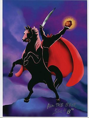 Legend of Sleepy Hollow Headless Horseman Signed 8.5x11 Tribute Print With COA