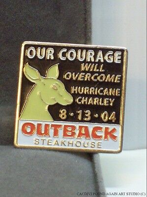 Our Courage Will Overcome Hurricane Charley Pin Outback Steakhouse Restaurant FL