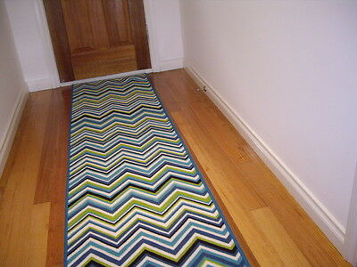 Hall Runner Rug Modern Designer 300cm Long Pattern Chevron Lines FREE DELIVERY