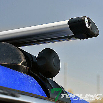 """Universal 50"""" Silver Oval Window Frame Roof Top Rack Tube Cross Bars Carrier T20"""