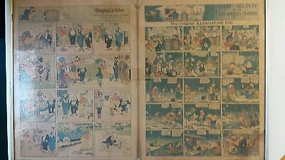 1918 L.A. Times Comics Pages Katzenjammer Kids Bringing Up Father etc Full Sheet