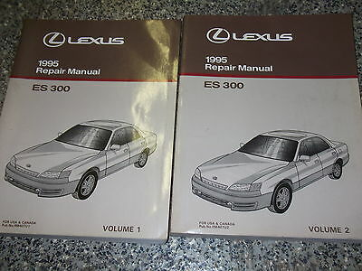 1995 LEXUS ES300 ES 300 Service Shop Repair Manual SET 2 VOLUME FACTORY OEM 1995