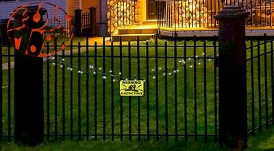New Halloween Decor Prop Electric Fence LED Flashing Lights Active Sounds