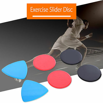 1 Pair Gliding Sliding Discs Home Exercise Workout Gym Fitness Abs Body Toning