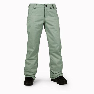 |H1251704-SGE| Pantalones Volcom – Frochickie Ins verde 2016 Mujer Poliéster Vol