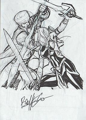 CARLOS PACHECO Marvel´s AGENTS of SHIELD ORIGINAL ART prelim SKETCH  + signed +