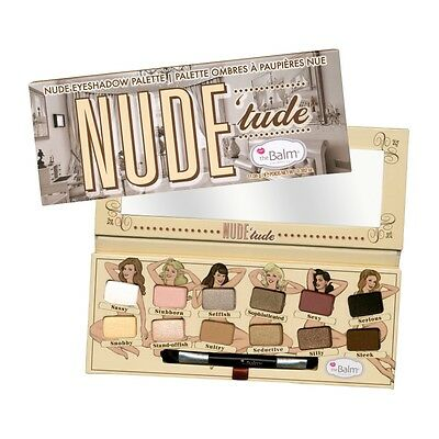 New 12 Color The Balm Cosmetics Nude Tude Eyeshadow Palette 100% Genuine