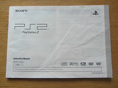 Genuine Sony Playstation 2 PS2 Slim Instruction Manual (SCPH-77003)