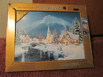 Mr. Christmas Illuminart Canvas Christmas Village 20 x 16""