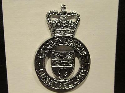 OBSOLETE Leicestershire Constabulary Post WWII Great Britain Cap Badge