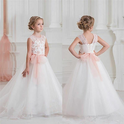 Flower Girl Dress Communion Party Prom Princess Pageant Bridesmaid Wedding