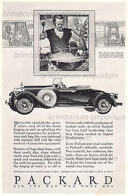 Packard 443 Eight Convertible Coupé -  Original Anzeige von 1928