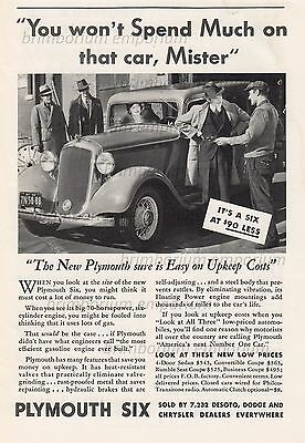 Plymouth Six 4-Door Sedan $545 - Original Anzeige von 1933