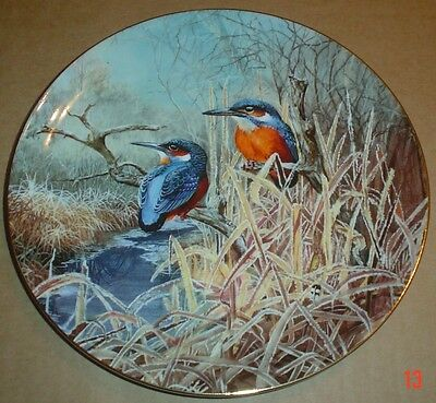 Coalport Collectors Plate KINFISHER AT DAWN From FROSTY MORNINGS
