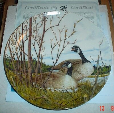 Dominion China Ltd Collectors Plate NESTING - Geese Boxed