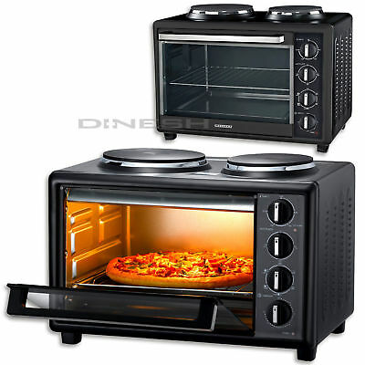 (033) MELISSA Oven with Double Cooking Hob Mini oven 2 Cook plate 1500 Watt 28L