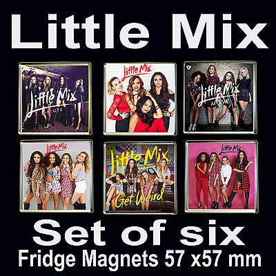 Little Mix-Set of 6 Fridge Magnets 57x57mm