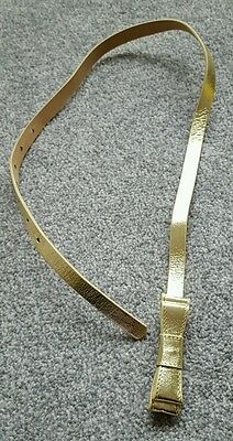 Boden Johnnie B Girls Brand New Warwick Waist Belt Gold Leather. size 9-12 years