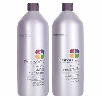 Pureology Hydrate Shampoo & Conditioner Liter 33.8 oz. Duo Set NEW