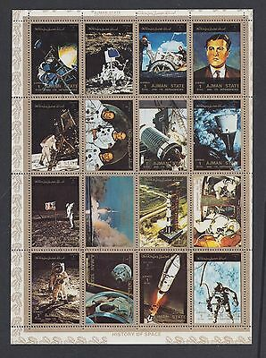 "£2.99 - An ""AJMAN STATE"" History of Space Miniature Stamp Sheet."