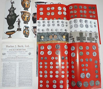 6 Vintage Harlan Berk Buy or Bid Catalogues Ancient Coins & Antiquities
