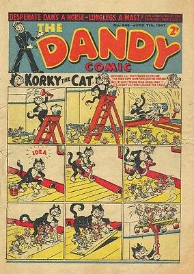 UK COMICS THE DANDY 90+ HUMOUR COMICS FROM 1940s 1950s and 1960s ON DVD