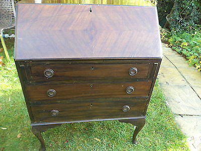 Wooden writing bureau with drawers chalk paint project .REDUCED