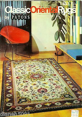 Oriental Rug Making Pattern Book 12 Oriental Rug Charts For Latch Hook