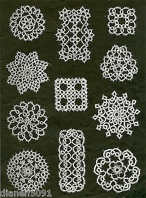 Anne Orr Tatting Pattern Book # 43  Edgings Insertions Tablecloth &