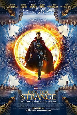 Doctor Strange Laminated  Mini  A4 Movie Poster Style 2 Marvel Cumberbatch