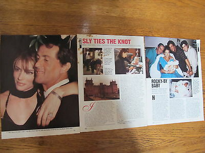 Sylvester Stallone,jennifer Flavin Us Clippings