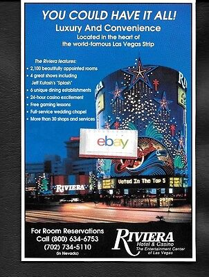 Riviera Hotel & Casino Las Vegas 1994 You Could Have It All Splash Show Ad