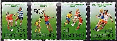 Lesotho (9575) 1986 World Cup Championship, Mexico set Mounted mint Sg686-9