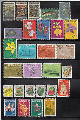 Suriname 1968-1985 Seven complete mint never hinged sets